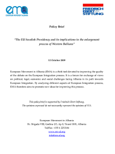 Policy Brief- EU SWedish Presidency-2009