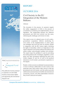 Photo Civil Society in the EU integration of the WB-october 2014