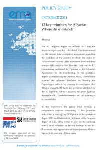 Photo-Policy Study-12 key priorities for Albania